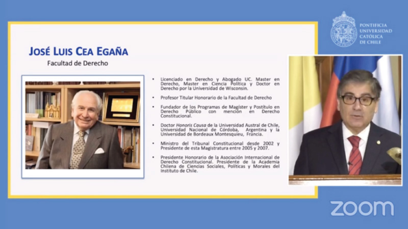 Jose Luis Cea es nombrado Profesor