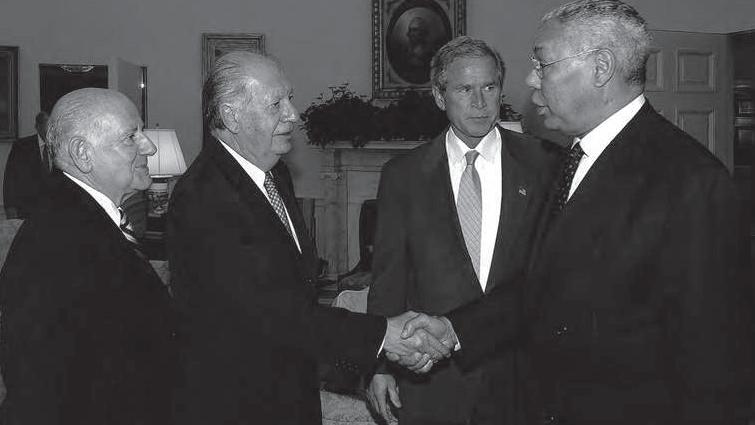 FOTO 6 PIE Visita del presidente Lagos y embajador de Chile en Estados Unidos al presidente Bush 20.07.2004. min